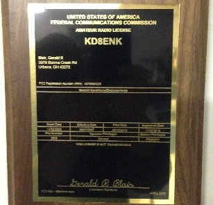 Amateur Radio License Plaque