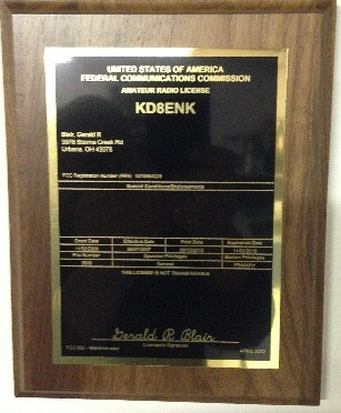 Amateur Radio License Plaque Electronic Signs